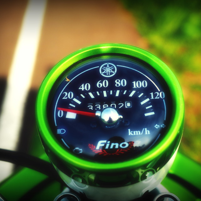 """Scooter speed meter"" stock image"