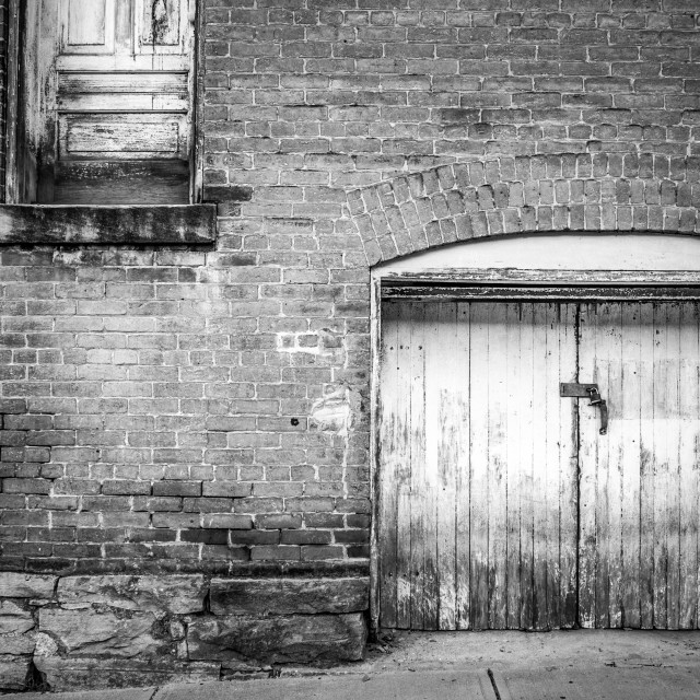 """Door to nowhere"" stock image"