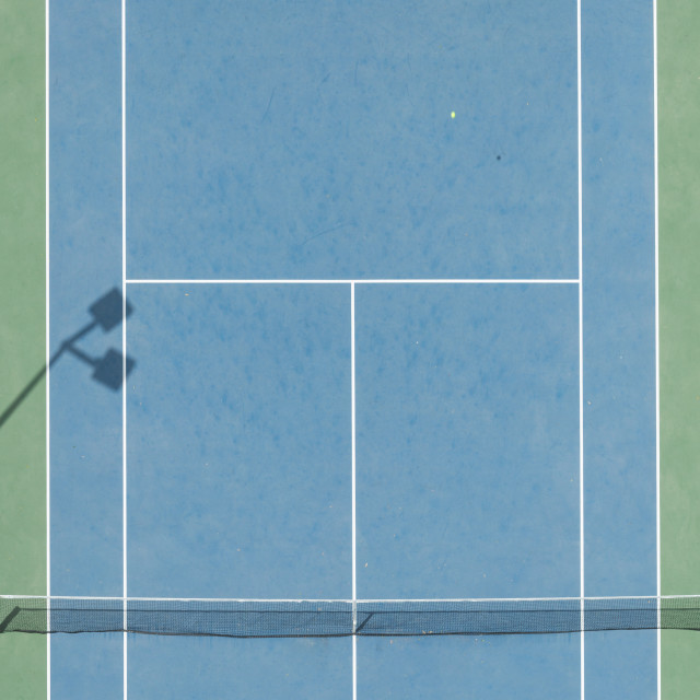 """ariel view of a tennis court birds eye view"" stock image"