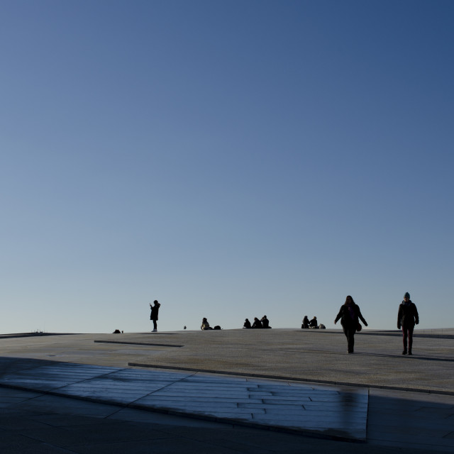 """Oslo Roof Silhouettes"" stock image"