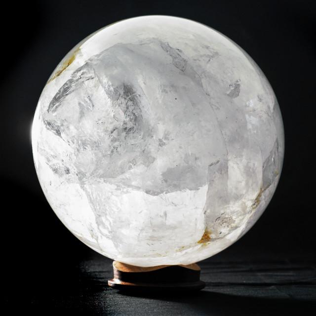 """Quartz Sphere mineral spherical"" stock image"