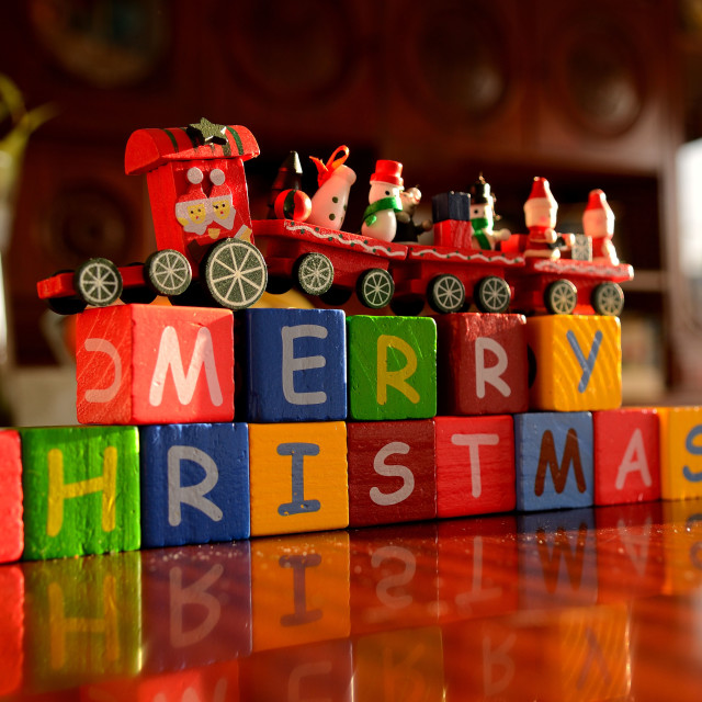 """Christmas train"" stock image"