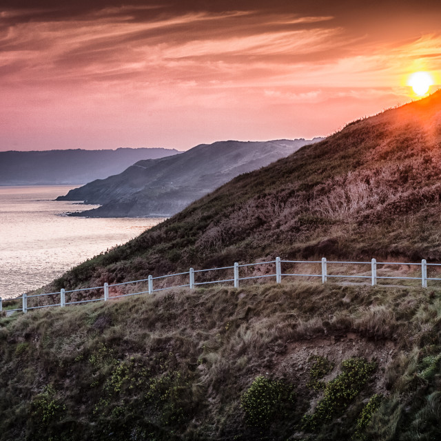 """South Gower coastal path"" stock image"