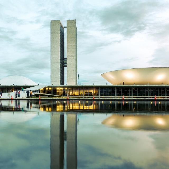 """""""Brazilian National Congress in Brasilia, Brazil."""" stock image"""