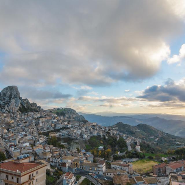 """Dawn in Caltabellotta"" stock image"