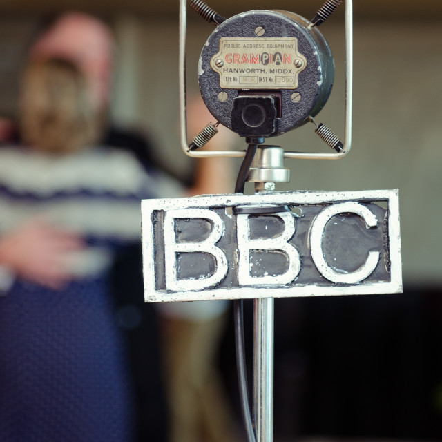 """vintage grampian retro bbc microphone"" stock image"