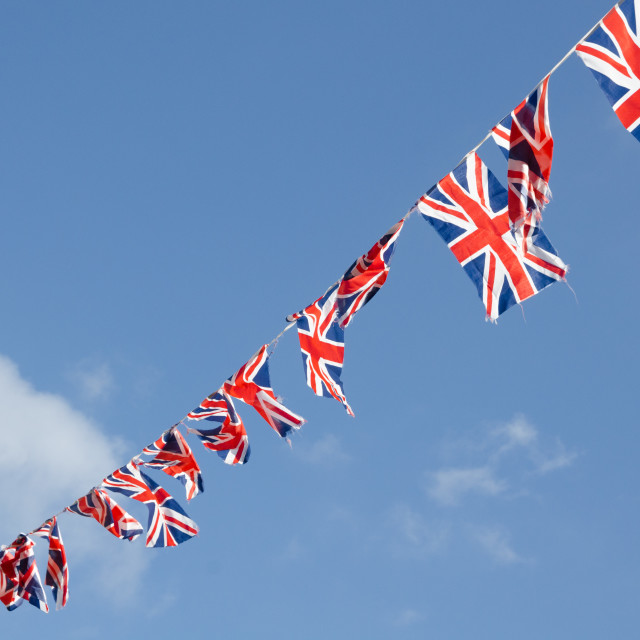 """british flag bunting"" stock image"