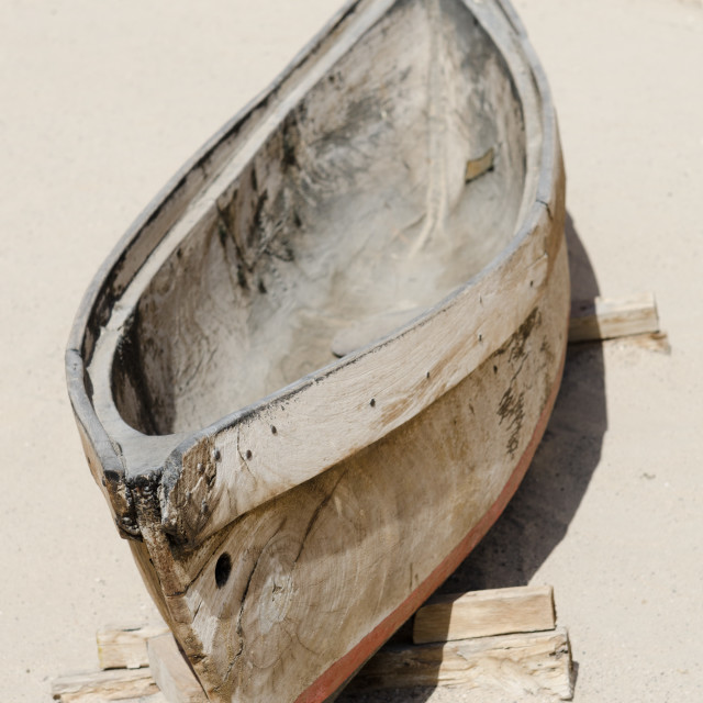 """old antique traditional emirati wooden fishing boat, bur dubai united arab emirates"" stock image"