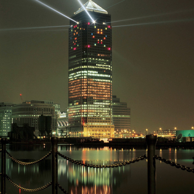 """""""Canary Wharf Tower, One Canada Square, London"""" stock image"""