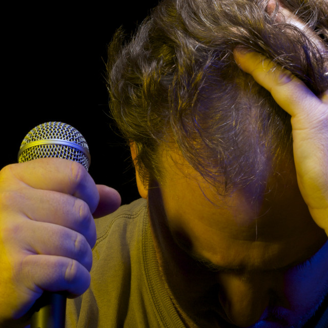 """""""Passionate Vocalist & Microphone"""" stock image"""