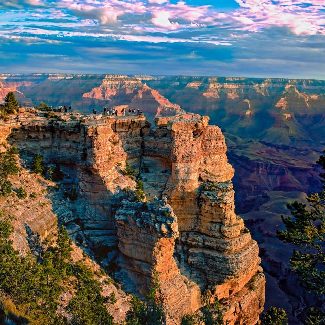 """Grand Canyon Vista"" stock image"