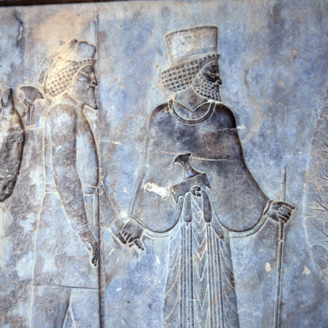 """""""Ancient Mede and Persians soldiers"""" stock image"""