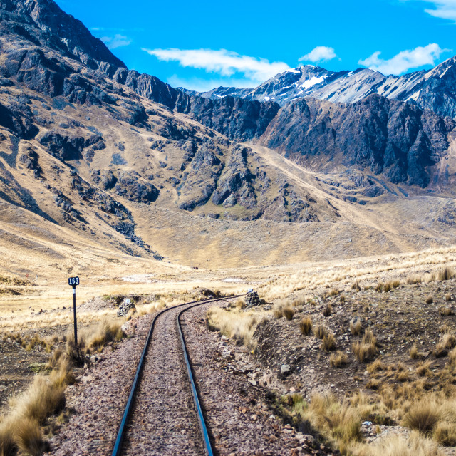 """Middle of the Road, on the way to Cusco - Peru"" stock image"