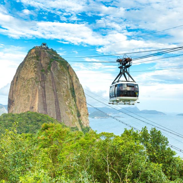 """The Sugarloaf Mountain in Rio de Janeiro, Brazil"" stock image"