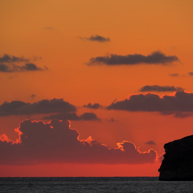 """Sunset on Gozo"" stock image"