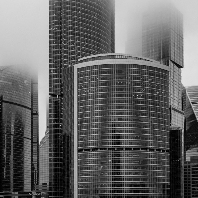 """Moscow City smog"" stock image"