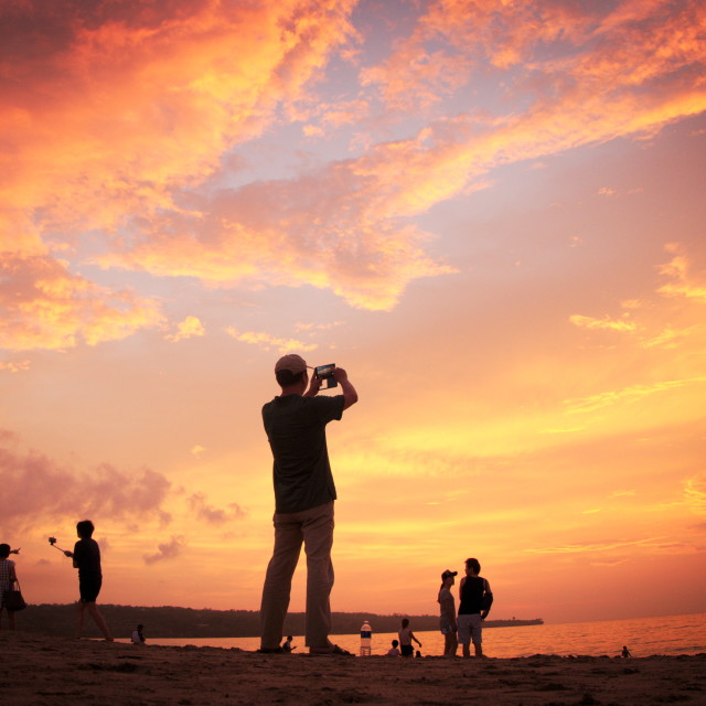 """Snapshot After The Sunset"" stock image"