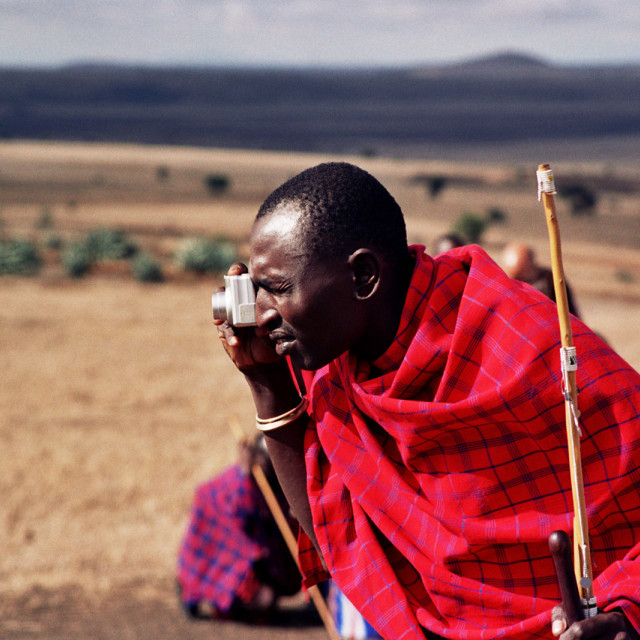 """Maasai Technology"" stock image"