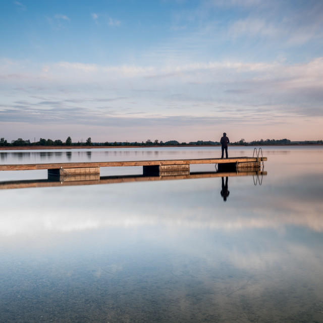 """Man in the jetty"" stock image"