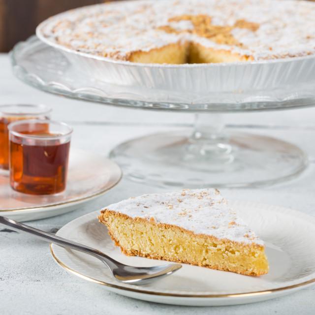 """Santiago almond cake"" stock image"