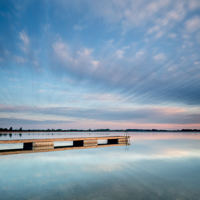 """Jetty in the lake"" stock image"
