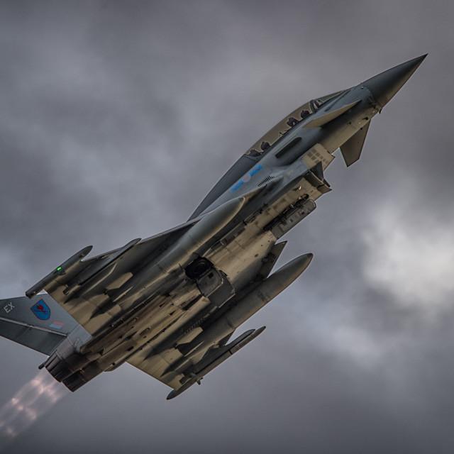 """Eurofighter Typhoon Afterburner's"" stock image"