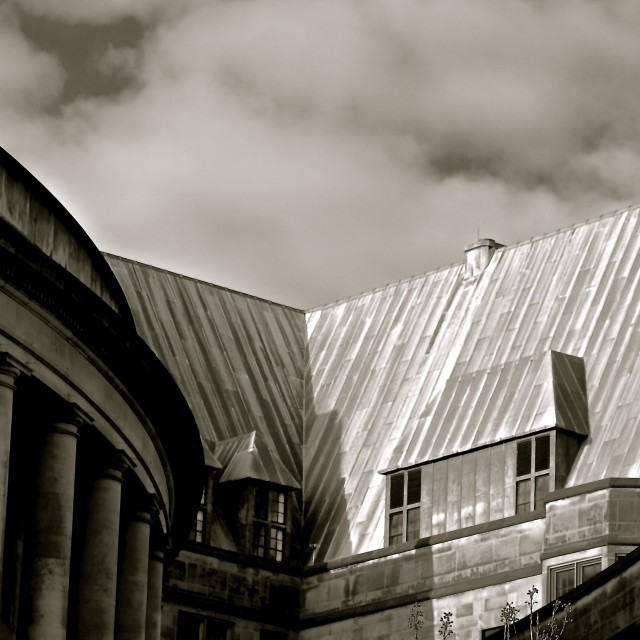 """Manchester Library roof"" stock image"