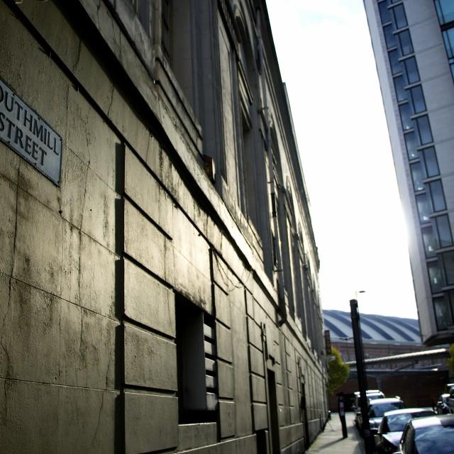 """""""Manchester sunbreak"""" stock image"""