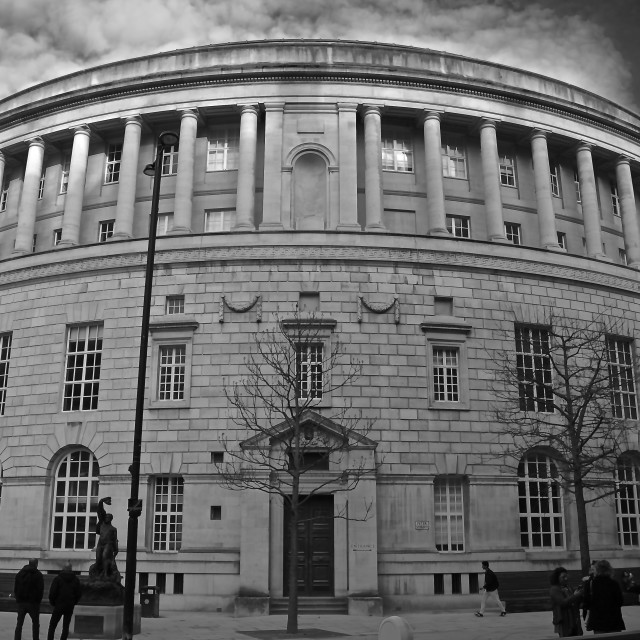 """Manchester Central Library"" stock image"