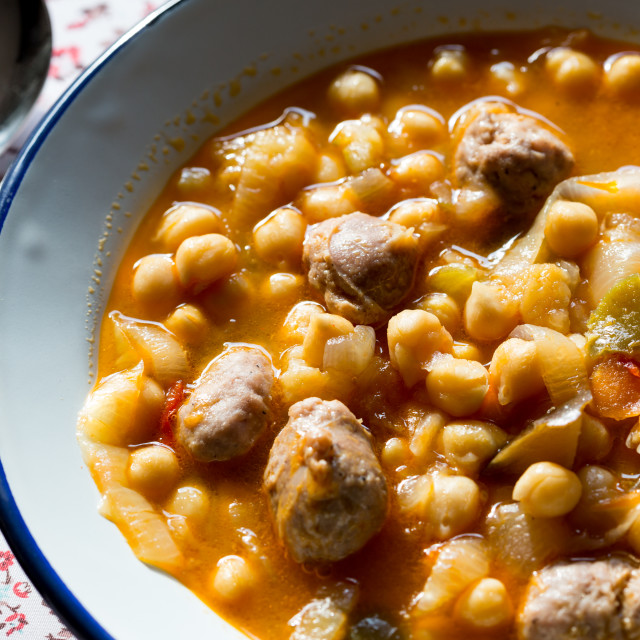 """""""Chickpea stew with meat"""" stock image"""