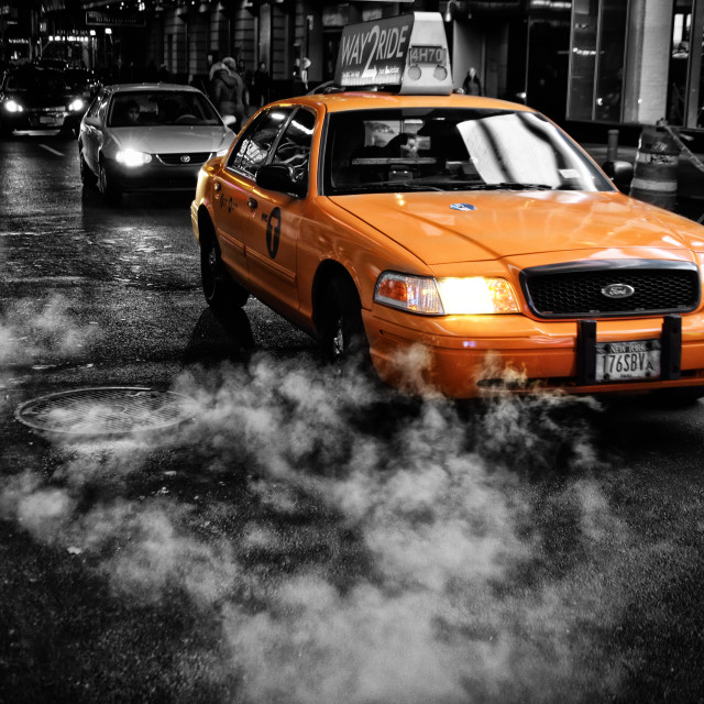 """""""Taxi!"""" stock image"""