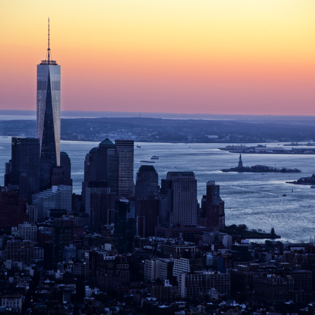 """""""A New York View"""" stock image"""