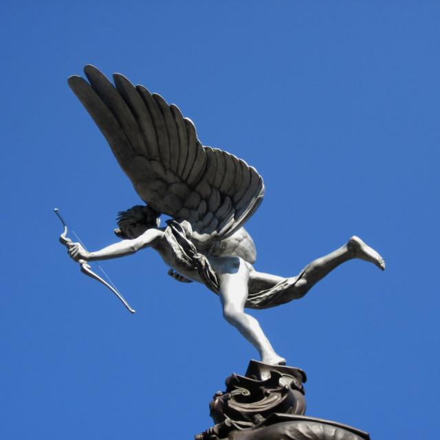"""Eros statue, Sefton Park, Liverpool"" stock image"