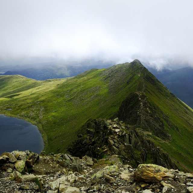 """Striding Edge"" stock image"