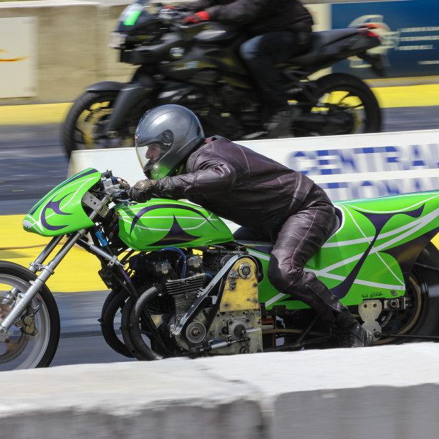 """motorcycle drag race"" stock image"