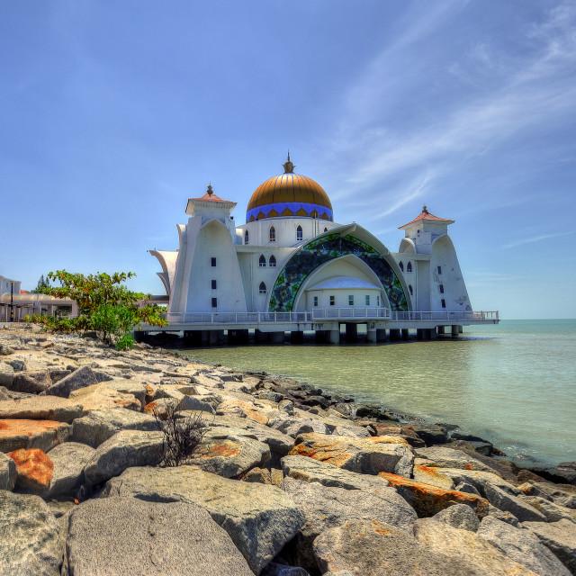 """Malacca Straits Mosque"" stock image"
