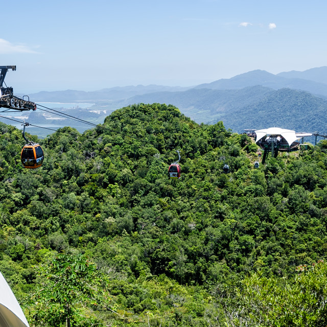 """Langkawi Cable Car"" stock image"