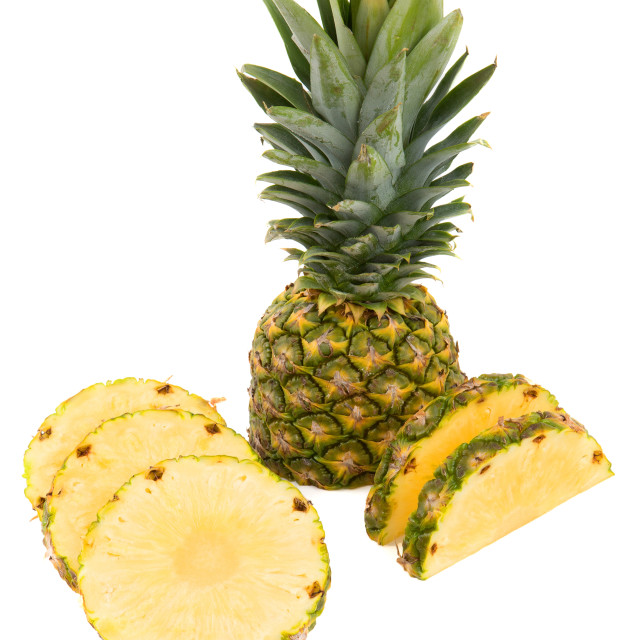 """""""Pineapple with slices"""" stock image"""