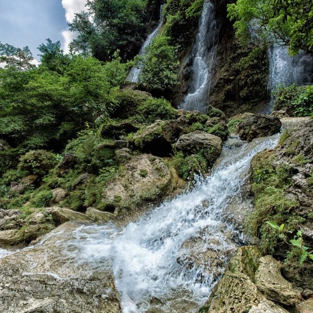 """""""Sri Gethuk Waterfall"""" stock image"""