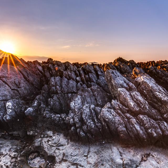 """""""Captivating Coastal Sunset"""" stock image"""