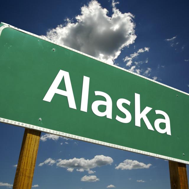 """Alaska Road Sign"" stock image"