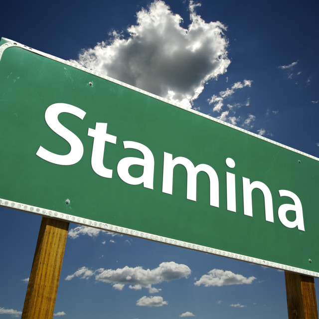 """Stamina Road Sign"" stock image"