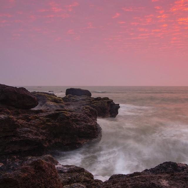 """Sunrise on the Beach in Viet Nam"" stock image"