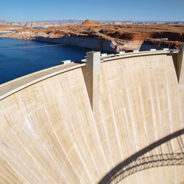 """Glen Canyon Dam"" stock image"