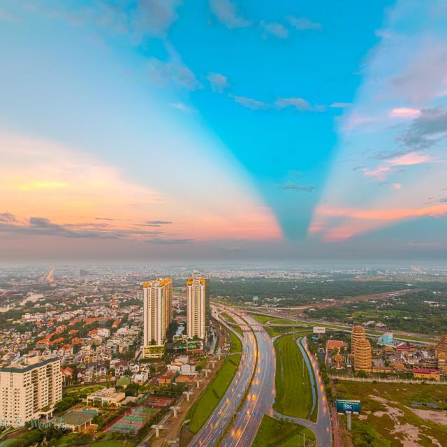 """""""Sunset Highway Hanoi"""" stock image"""
