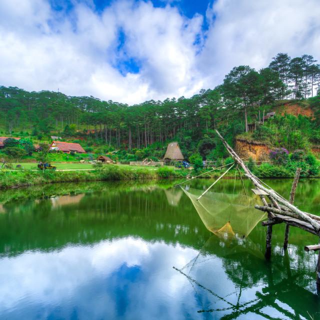 """""""Cu Lan Village"""" stock image"""