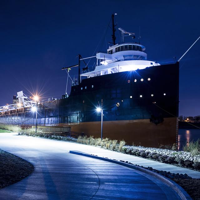 """""""Lake Freighter"""" stock image"""