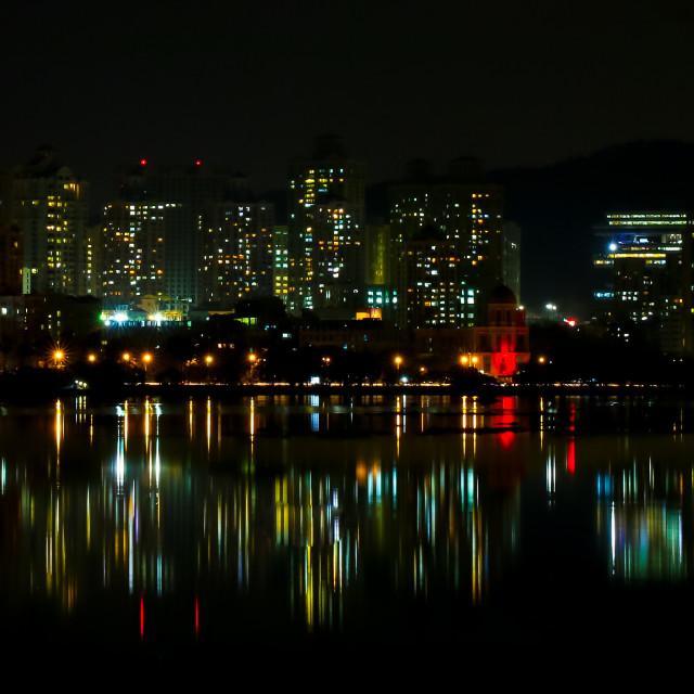 """Night view"" stock image"