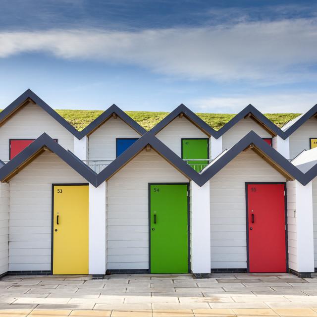 """""""Beach Hut's"""" stock image"""