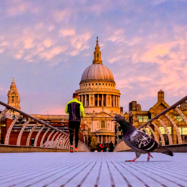 """""""Strutting To St Pauls's"""" stock image"""
